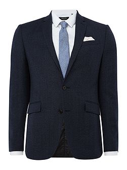 Wade Slim Fit Textured Suit Jacket
