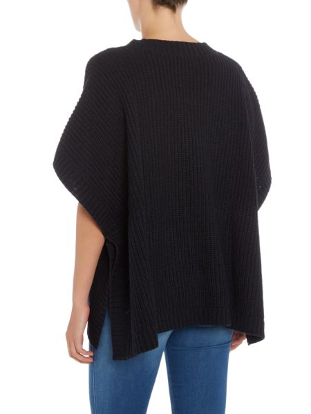 Armani Jeans Knit poncho gold buttons