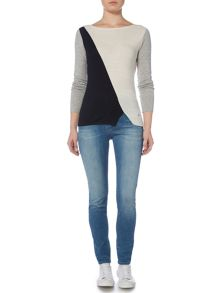 Armani Jeans Colour block knit jumper