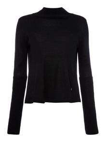 Armani Jeans contrast back polo neck