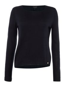 Armani Jeans Crew neck sweater with woven hem