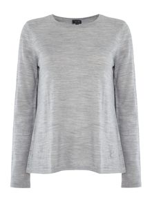 Armani Jeans Long sleeve slpit back knit