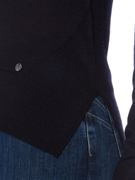 Armani Jeans Long sleeve v neck wool sweater