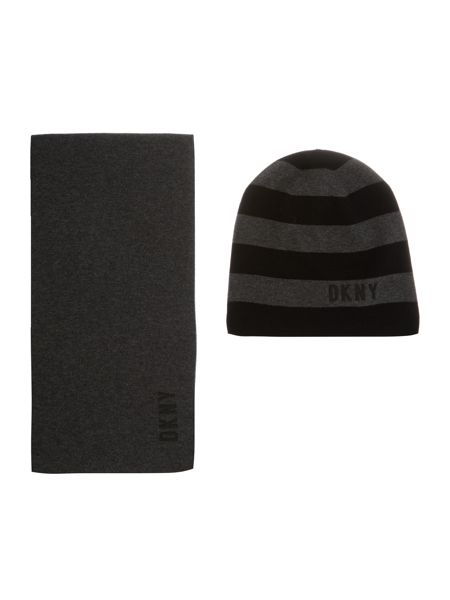 DKNY Boys Set of a hat and scarf