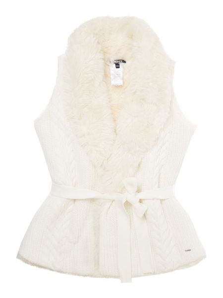 DKNY Girls Sleeveless cardigan