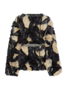 Une Fille Girls Fur Coat