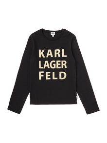 Karl Lagerfeld Girls Long Sleeve T-Shirt