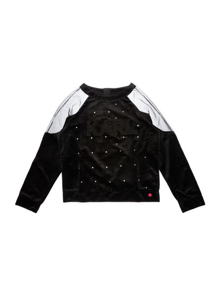 Karl Lagerfeld Girls Velvet Sweater