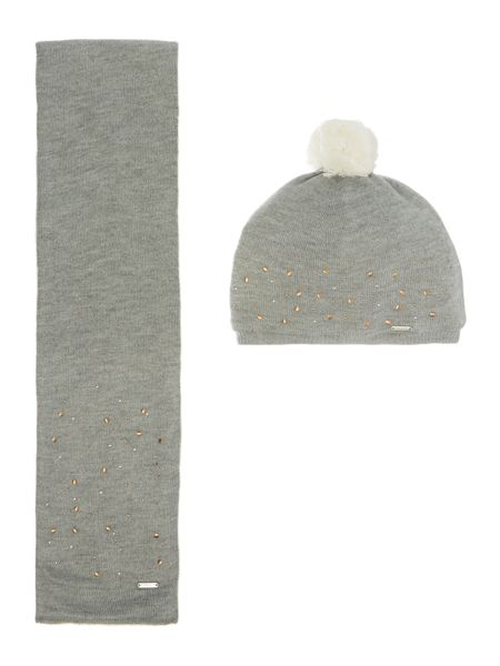 DKNY Baby girls Scarf and hat set