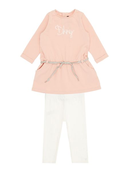 DKNY Baby girls Dress and legging set