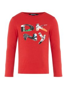 DKNY Boys Cotton Logo T-Shirt