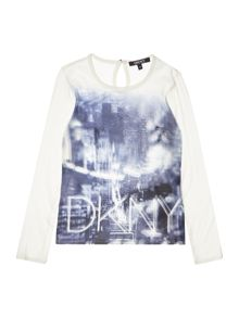 DKNY Girls Jersey blouse