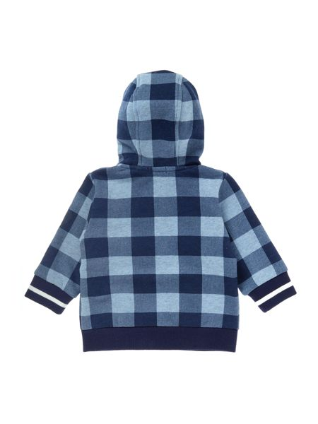 Timberland Baby boy Hooded checked cardigan