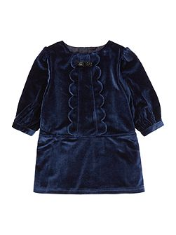 Baby girls Long sleeve velvet dress