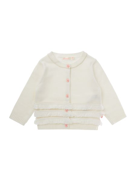 Billieblush Baby girls Fancy fringed cardigan
