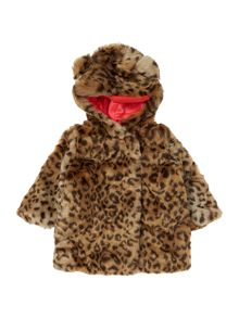 Billieblush Baby girls Leopard fake fur jacket
