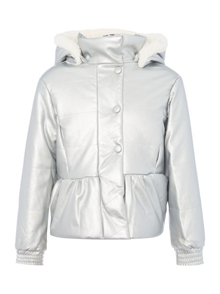 Billieblush Girls Metallic Padded Jacket