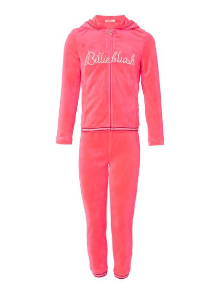 Billieblush Girls Velvet track suit