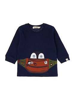 Baby boys illustrated cotton t-shirt