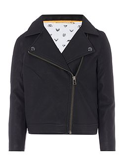 Boys Faux-Leather Jacket