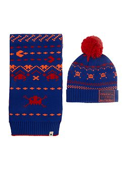 Boys: Hat and scarf set