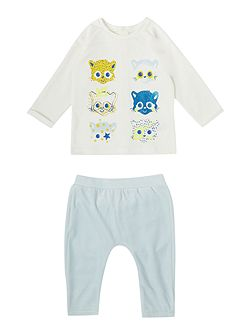 Baby boy trousers and t-shirt set
