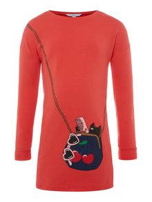 Little Marc Jacobs Girls: Long sleeve fleece dress