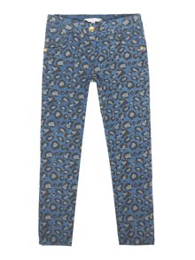 Little Marc Jacobs Girls Denim printed trousers