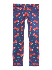 Little Marc Jacobs Girls Cherry printed trousers