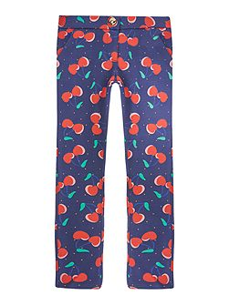 Girls Cherry printed trousers