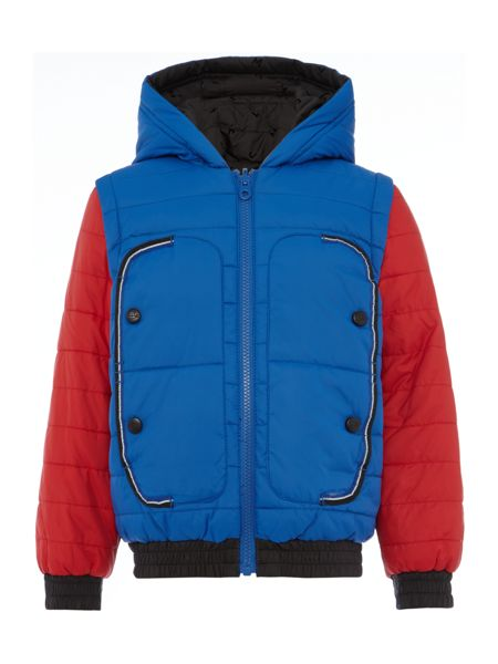 Little Marc Jacobs Boys Reversible puffer jacket
