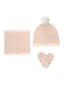 Carrement Beau Baby girls knitted set