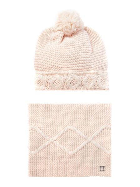 Carrement Beau Girls Hat and snood set