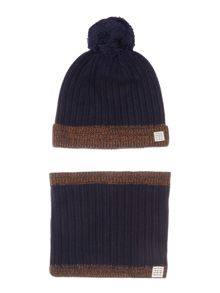 Carrement Beau Boys Hat and Snood Set