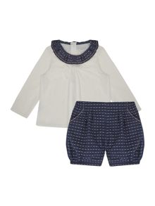 Carrement Beau Baby girls T-shirt and bloomers set