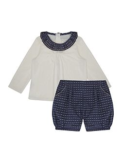 Baby girls T-shirt and bloomers set