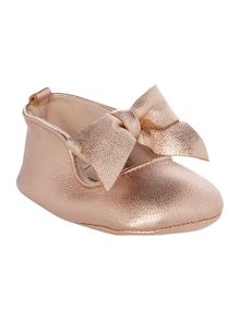 Carrement Beau Baby girls Iridescent ballerina shoes