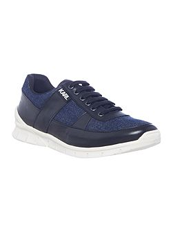 Boys Leather and denim trainers
