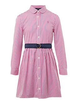 Girls Bengal Stripe Shirt Dress