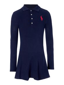 Polo Ralph Lauren Girls Polo Dress with Big Pony Logo