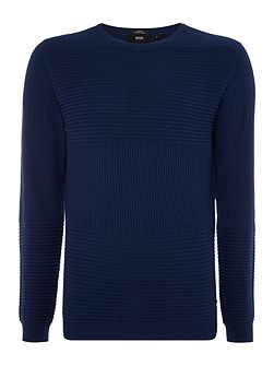 Banty crew neck ribbed kittted jumper