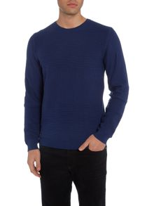 Hugo Boss Banty crew neck ribbed kittted jumper