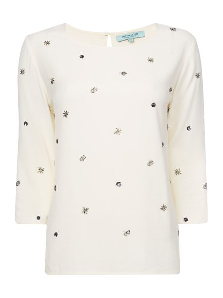 Dickins & Jones Woven Embellished Top