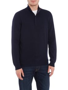 Hugo Boss Bonny concealed placket zip funnel neck jumper