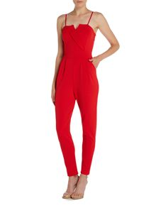 Wal-G Sleeveless Tapered Leg Jumpsuit