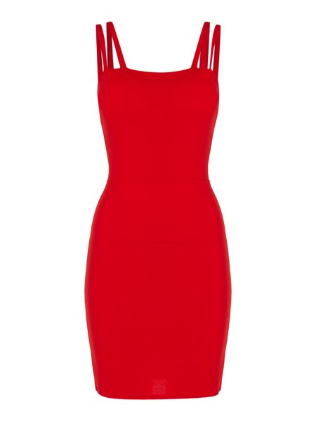 Wal-G Sleeveless Double Strapped Bodycon Dress