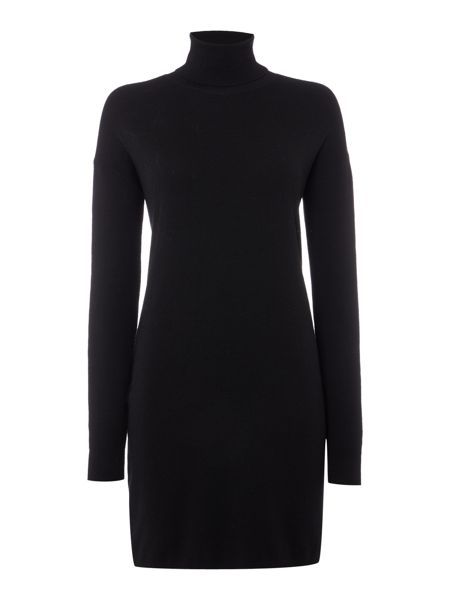 Polo Ralph Lauren Long sleeve roll neck dress with side zip detail