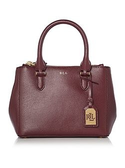 Newbury burgundy mini zip tote bag