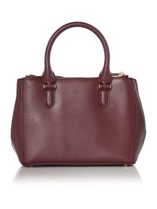 Lauren Ralph Lauren Newbury burgundy mini zip tote bag
