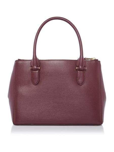Lauren Ralph Lauren Newbury burgundy medium zip tote bag